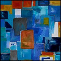 Blaue Komposition